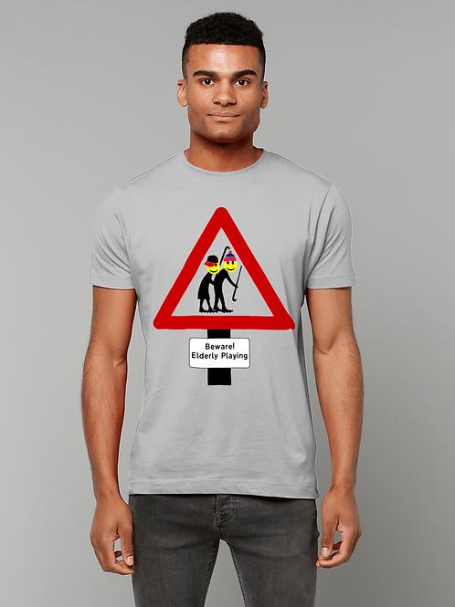 Beware, Elderly Playing! Funny, Vet's Field Hockey T-Shirt