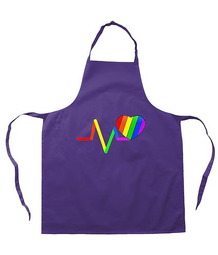 Pulse Rainbow Heart! LGBT Apron