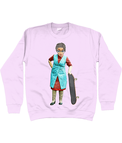 Skateboarding Granny, Funny Sweatshirt