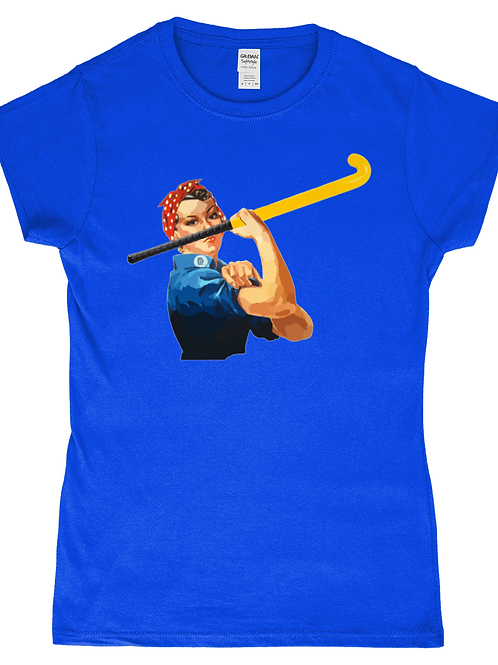 We Can Do It! Funny, Ladies Field Hockey T-Shirt