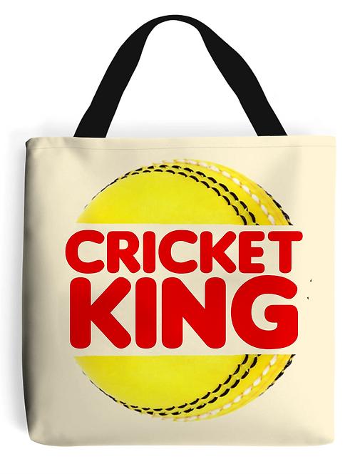 Cricket King Tote Bag