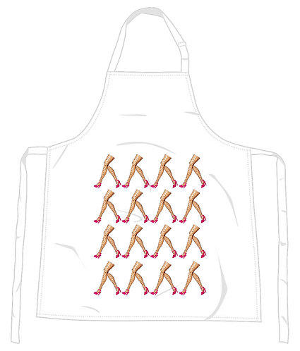 The March of the Hairy Legs Apron