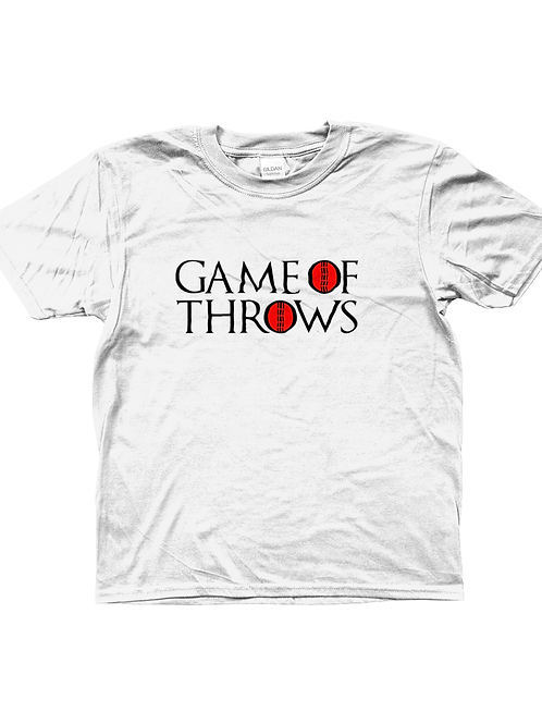 Game of Throws! Funny, Kids Cricket T-Shirt