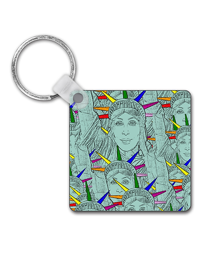 Gay Keyring! Cher morphed into The Statue of Liberty!