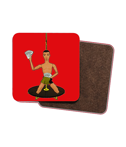 4 x Pole Dancing Chippendale Drinks Coasters!