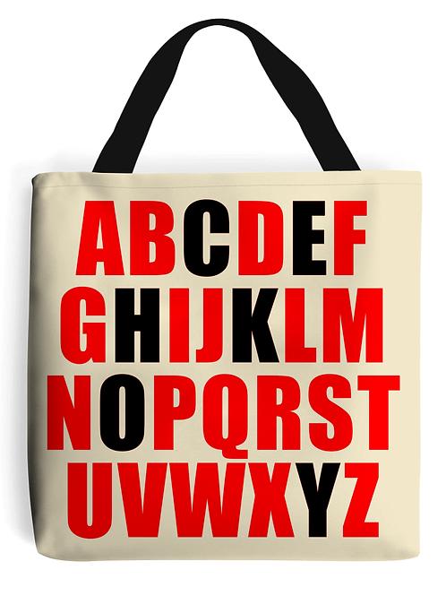 Alphabet Hockey, Field Hockey Tote Bag