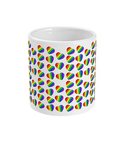 Rainbow Lovehearts Gay Mug!