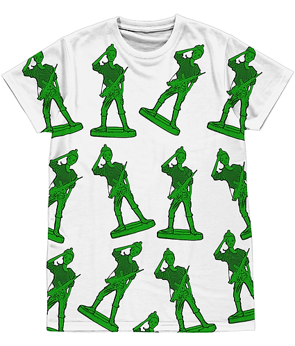 Girl Toy Soldiers, Cool, Pop Art Sublimation Unisex T-Shirt