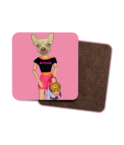 4 x Funny, Revenge of The Chihuahua Drinks Coasters!