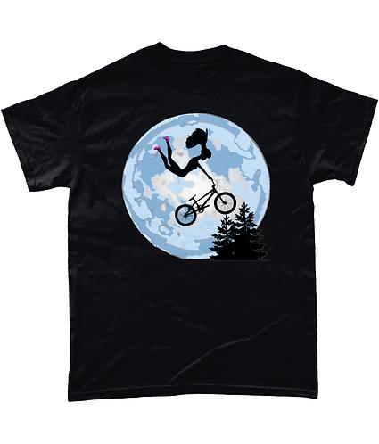 Doll Riding A BMX, ET Style Mens Fashion T-Shirt