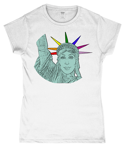 Cher as The Statue of Liberty! LGBT Ladies T-Shirt