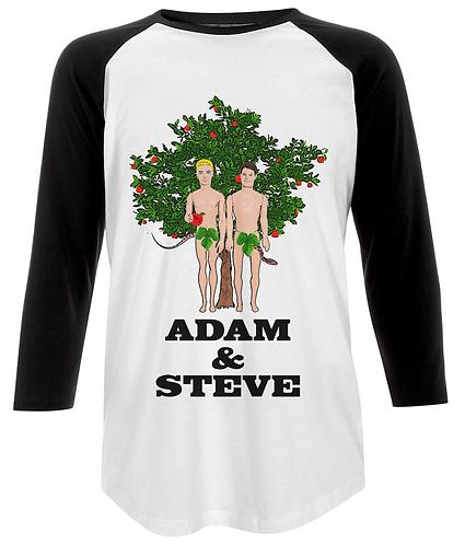 Adam & Steve, Funny, Gay Baseball Shirt
