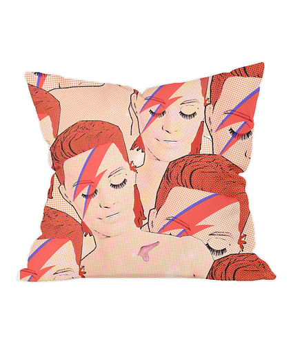 Bowies! Cool Pop Art Throw Cushion Cover
