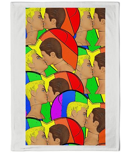 Gay Kissl! Funny, Gay Tea Towel!