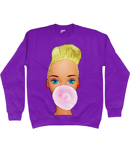 Bubblegum Babe, Funny Pop Art Sweatshirt