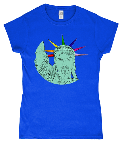 George Michael as The Statue of Liberty! LGBT Ladies T-Shirt