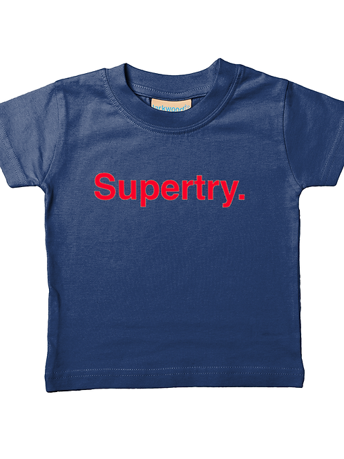 Super Try! Cool, Funny, Babies Rugby T-Shirt