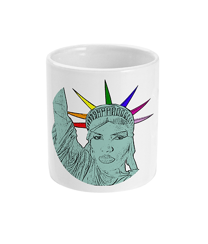 Funny, Gay Mug! Grace Jones as The Statue of Liberty!