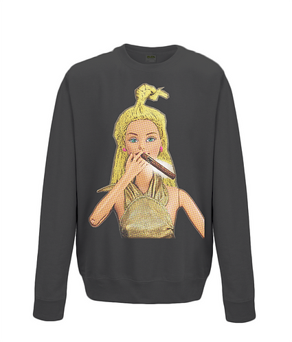 Smoking A Cigar, Pop Art Sweatshirt