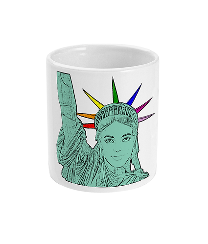The U.S of Gay! Pop Art Statue of Liberty Mug