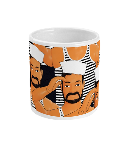 Hello Sailors, Gay Pop Art Mug