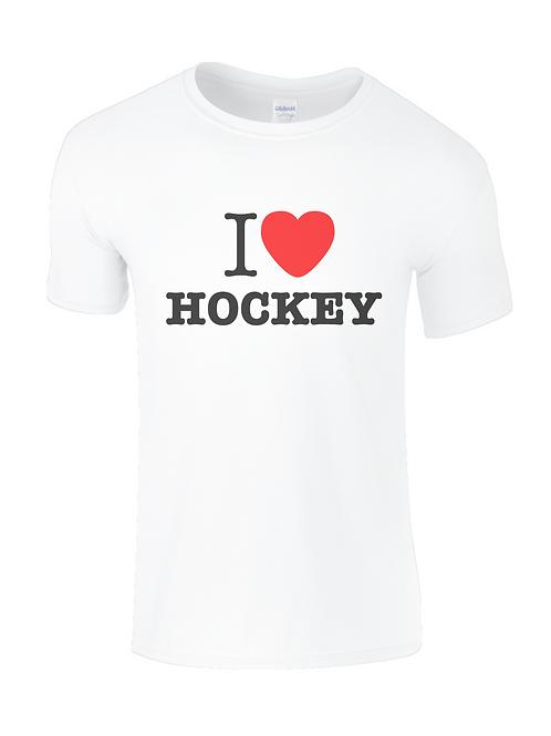I Love Hockey Mens Field Hockey T-Shirt