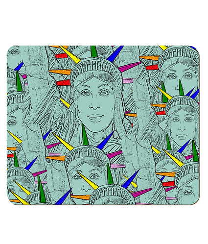 4 x Gay Place Mats! Cher morphed into The Statue of Liberty!