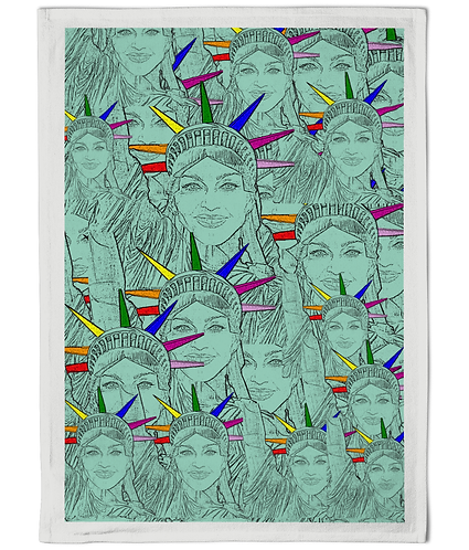 Madonna as The Statue of Liberty Tea Towel!
