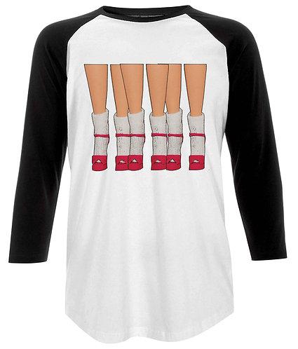 A Crowd Of Socks & Stilettos Baseball Shirt