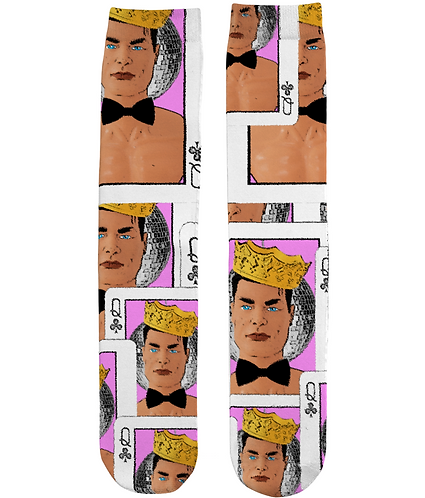 Funny, Gay, Tube Socks. Queen of Clubs!