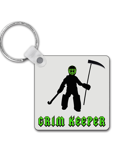 Grim Keeper! Funny Field Hockey Keyring