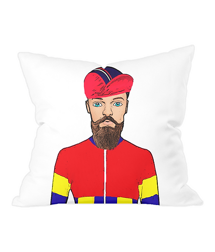 Fixie Cyclist, Funny Cushion Cover