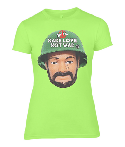 Make Love Not War Ladies T-Shirt