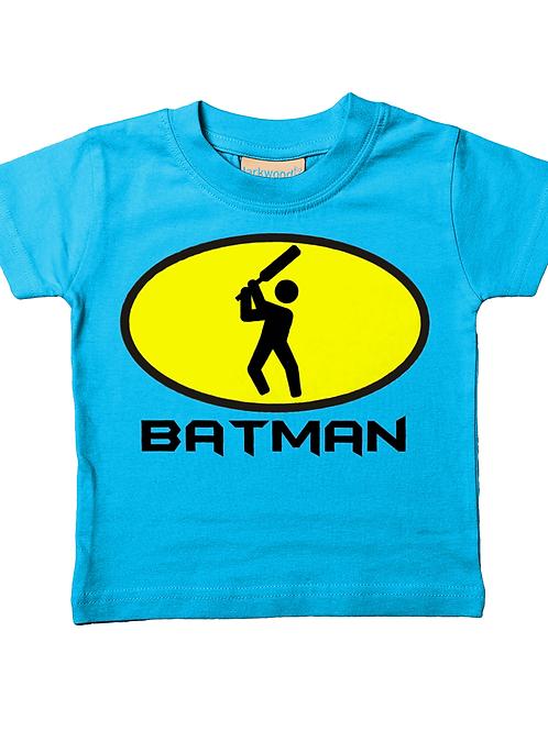 Bat Man! Cool, Funny, Babies Cricket T-Shirt