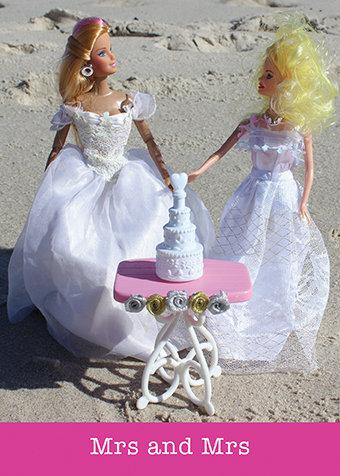 Mrs & Mrs Lesbian Wedding Card