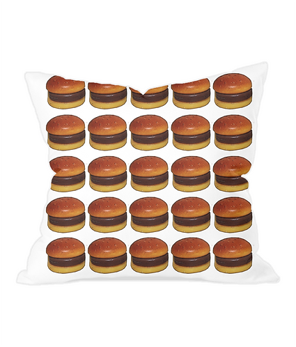 Burger Takeaway Throw Cushion Cover