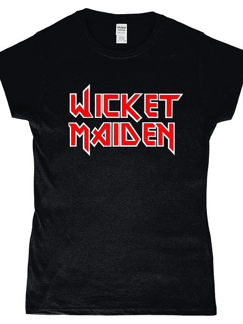 Wicket Maiden! Funny, Ladies Cricket T-Shirt