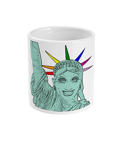 Bianca Del Rio as The Statue of Liberty! Funny, Gay, Mug