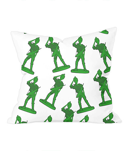 Girl Toy Soldiers Throw Cushion Cover