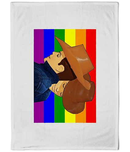 Funny, Gay Tea Towel! Brokeback Mountain!
