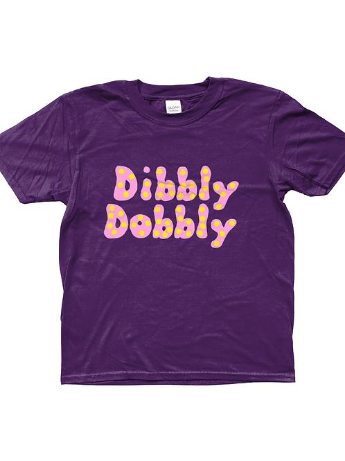 Dibbly Dobbly! Funny, Kids Cricket T-Shirt