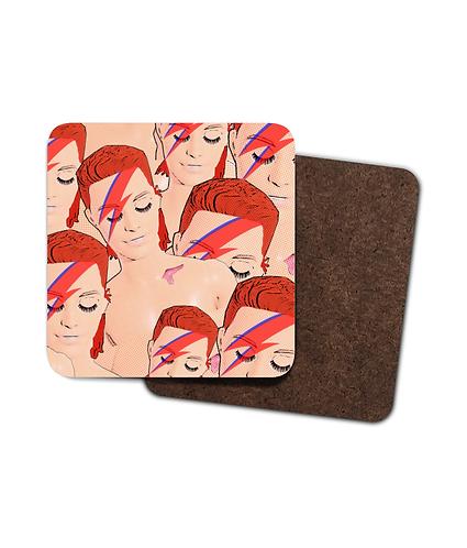 4 x Zowie Bowie Drinks Coasters!
