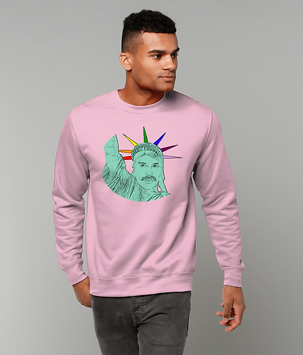 Freddie Mercury as The Statue of Liberty, Funny, Gay, Sweatshirt