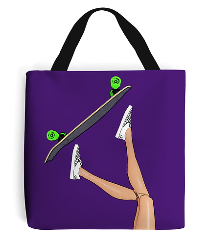 Skateboarding Girl Tote Bag