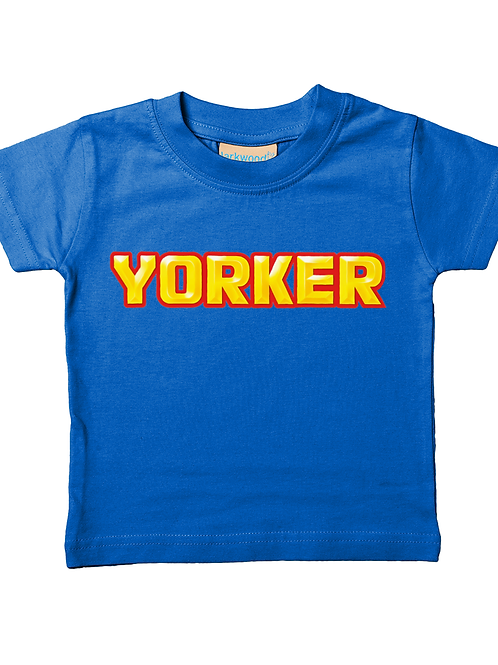 Yorker! Cool, Funny, Babies Cricket T-Shirt