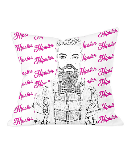 Mister Hipster Throw Cushion Cover