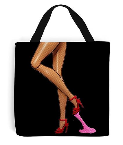 Bubblegum Stuck on Shoe, Funny Tote Bag