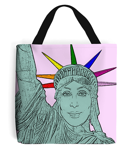 Cher as the Statue of Liberty! Funny, Gay, Tote Bag