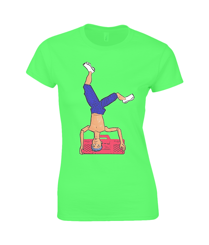 Breakdancing Ladies T-Shirt