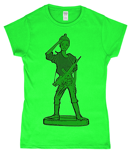 Barbie Toy Soldier! Girl Ladies T-Shirt